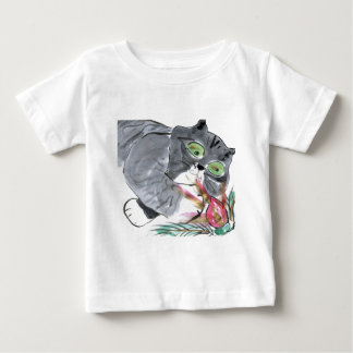 Red Glow & Frank, the Gray Tiger Kitten Baby T-Shirt