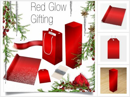 Red Glow Gift Wrap