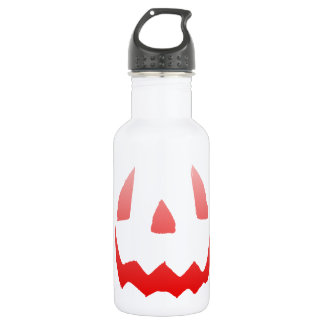Red Glow Happy Halloween Face Stainless Steel Water Bottle