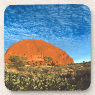 Red Glow of the Famous Ayers Rock in the Outback Beverage Coaster