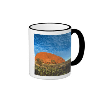 Red Glow of the Famous Ayers Rock in the Outback Mugs