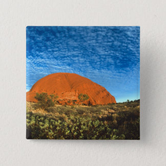 Red Glow of the Famous Ayers Rock in the Outback Pinback Button