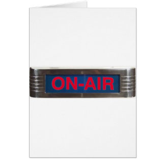 Red Glow On-Air Light Card