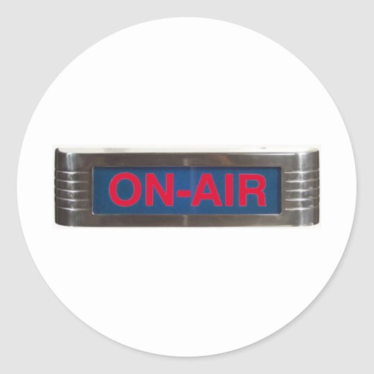 Red Glow On-Air Light Classic Round Sticker