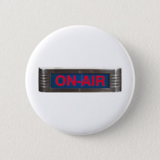 Red Glow On-Air Light Pinback Button