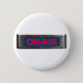 "Red Glow On Air Sign ""On-The-Air"" Button"