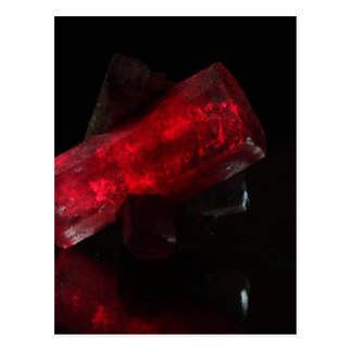 Red glowing crystal postcard