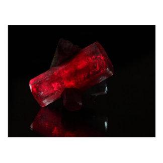 Red glowing crystal postcard