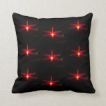 Red Glowing Dragonflies  Pillow, cushion