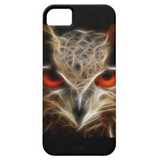 Red glowing Owl eyes iPhone 5 Case