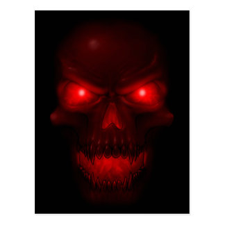 Red Glowing Skull Postcard