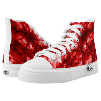 Red Gnarled Mold High-Top Sneakers