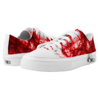 Red Gnarled Mold Low-Top Sneakers