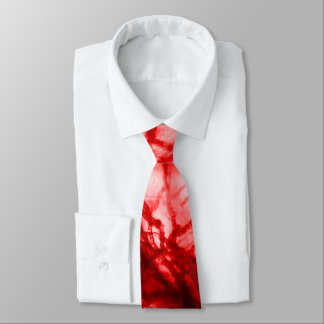 Red Gnarled Mold Neck Tie