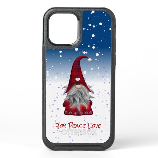 Red Gnome in the Snow OtterBox Symmetry iPhone 12 Case
