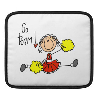 Red Go Team Cheerleader iPad Sleeve