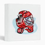 Red Goalie Mask 3 Ring Binders