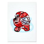 "Red Goalie Mask 5"" X 7"" Invitation Card"
