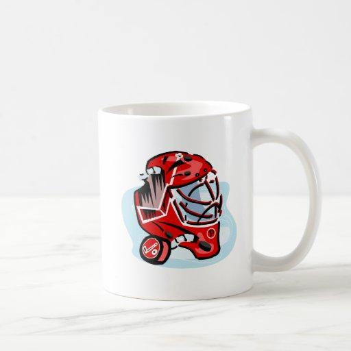 Red Goalie Mask Coffee Mug