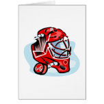Red Goalie Mask Greeting Card