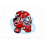 Red Goalie Mask Postcard