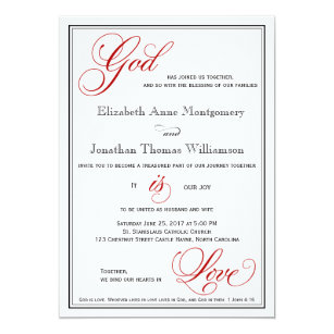 Christian Wedding Invitations Zazzle