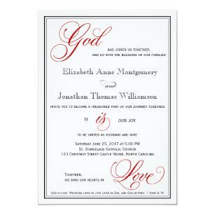 Christian Wedding Invitations Zazzle