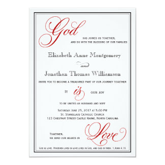 Christian wedding invitations zazzle red god is love christian wedding invitations stopboris Images