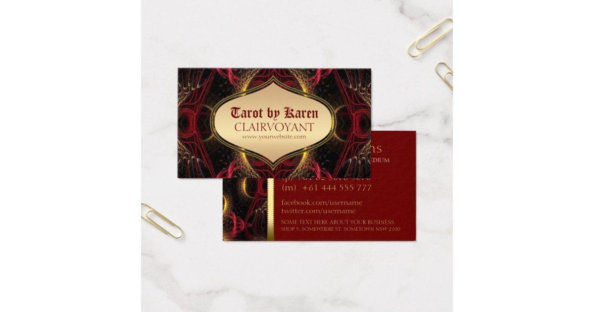 Red Goddess Temple Tarot Business Cards | Zazzle.com
