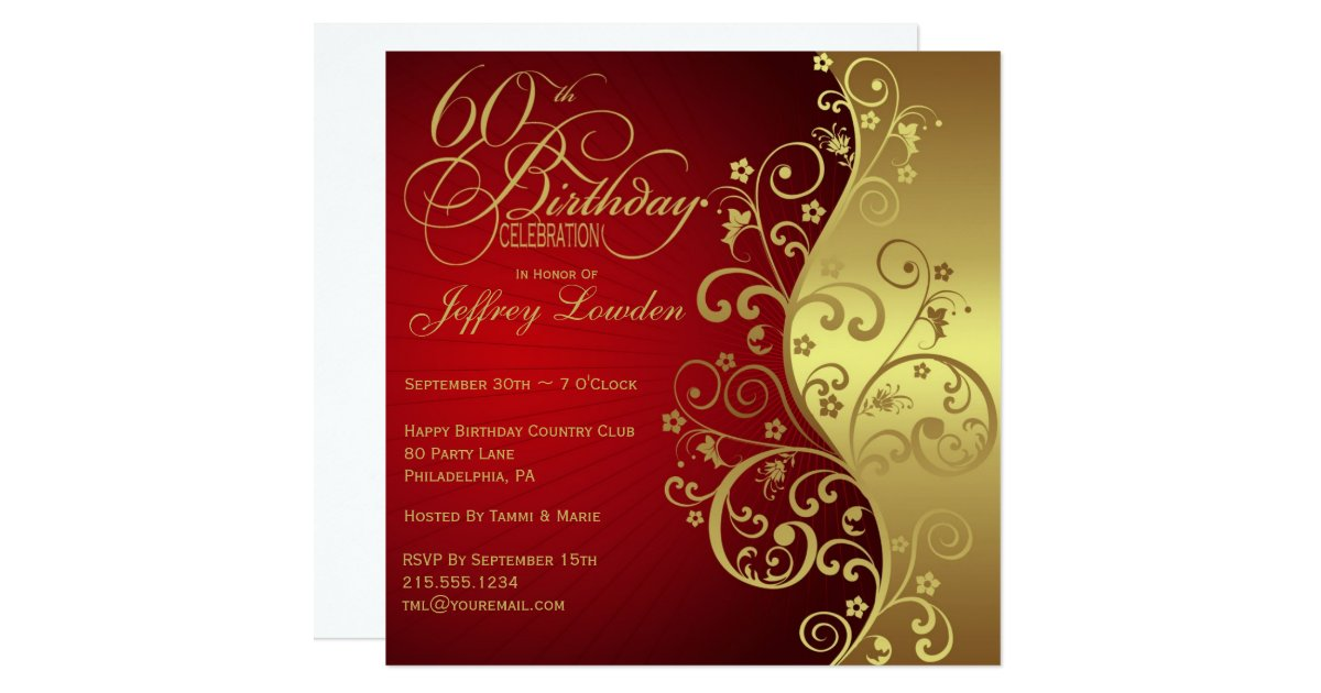 60Th Birthday Party Invitations | wblqual.com
