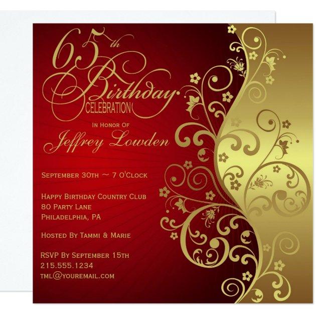 65Th Birthday Invitations | wblqual.com