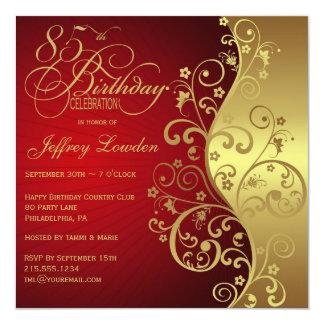 85th Birthday Invitations Announcements Zazzle