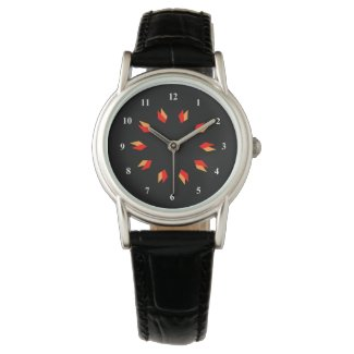 Red, Gold and Black Mandala Watch