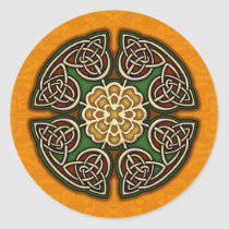 Red Gold and Green Celtic Knot Sticker