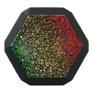 Red Gold and Green Glitter Bluetooth Speaker Black Boombot Rex Bluetooth Speaker