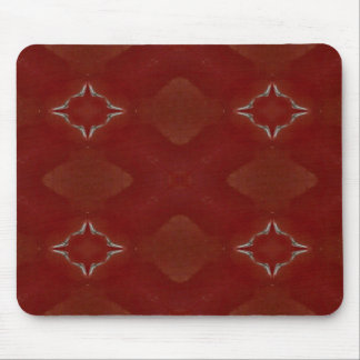 Red Gold and White Kaleidoscope 1 Mouse Pad