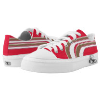 Red Gold and White Sojourn Max Low-Top Sneakers