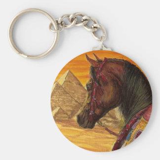 Red & Gold Arabian horse keychain
