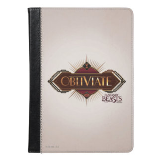 Red & Gold Art Deco Obliviate Spell Graphic iPad Air Case