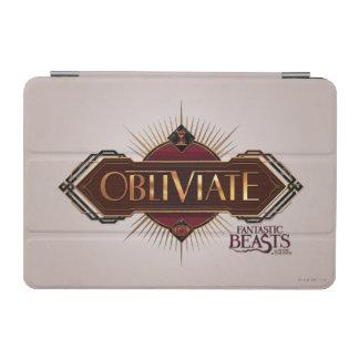 Red & Gold Art Deco Obliviate Spell Graphic iPad Mini Cover