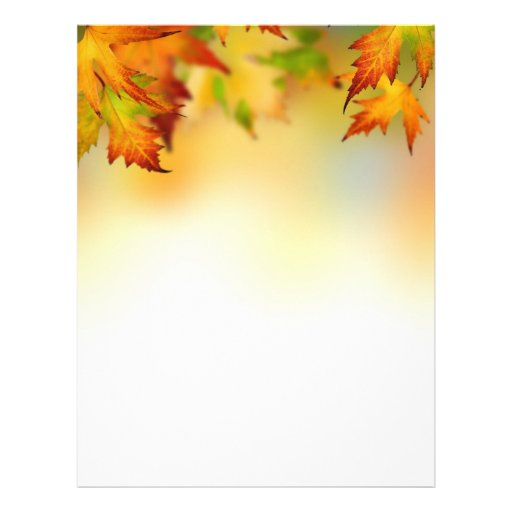 Red gold autumn leaves Letterhead