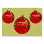 Red / Gold Baubles Card