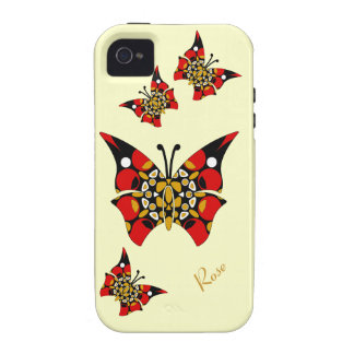 Red Gold Black Butterflies iPhone 4/4S Vibe Case Case-Mate iPhone 4 Covers