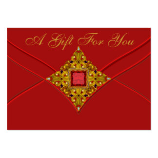 Red Gold Business Gift Certificate Cards Large Business Cards (Pack Of 100)