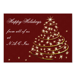 red gold Business Holiday Flat cards Announcements