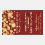 Red Gold Champagne Bubbles Birthday Label 750ml Sticker