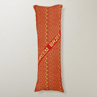 Red Gold Chant Shreem Brzee attract wealth Body Pillow