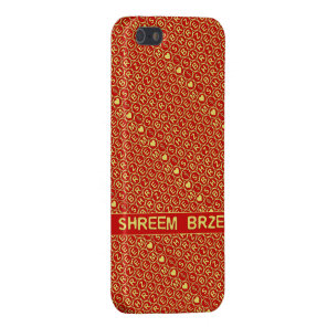 Red Gold Chant Shreem Brzee attract wealth Case For iPhone SE/5/5s