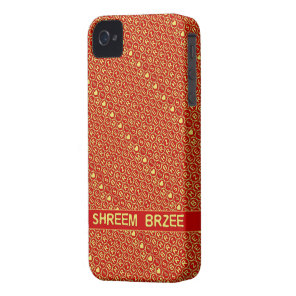 Red Gold Chant Shreem Brzee attract wealth Case-Mate iPhone 4 Case