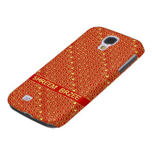 Red Gold Chant Shreem Brzee attract wealth Galaxy S4 Cover